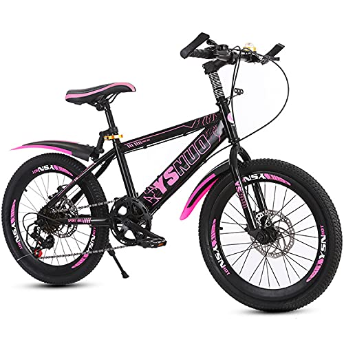 Mountainbike Fahrrad 20 Zoll jung & mädchen kohlenstoffstahlrahmen mit doppelscheibenbremsen vorne und hinten Kinder BMX mit Einer höhe von 120-145 cm (Rosa,20 Zoll)