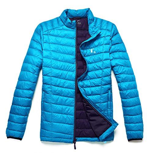 TAK Herren Daunenjacken Leicht Down Jacket Aqua blau Königsblau-01 L