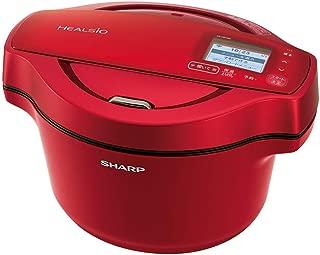 シャープ 自動調理 鍋 ヘルシオ ホットクック 1.6L 無水鍋 AIoT対応 レッド KN-HW16D-R
