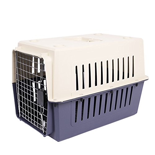 Livebest Portable Side Opening Pet Cat Carrier Crate Outdoor Kennel Car Travel Box for Small Animals