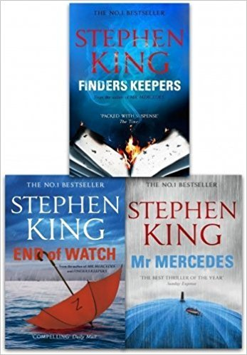 The Bill Hodges Trilogy Stephen King 3 Books Collection Set (Mr Mercedes, Finders Keepers, End of Watch)