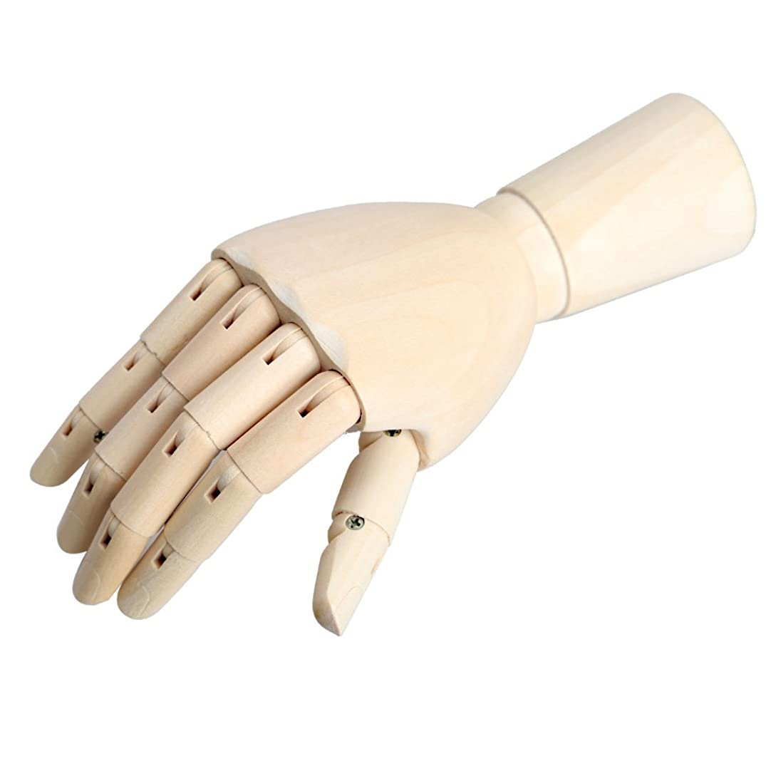 Tenflyer Wooden Articulated Right Hand Manikin Model 18*6cm