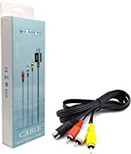 WiCareYo Câble audio vidéo AV 1,8 m, 6 broches pour Genesis Mega Drive 2 et 3