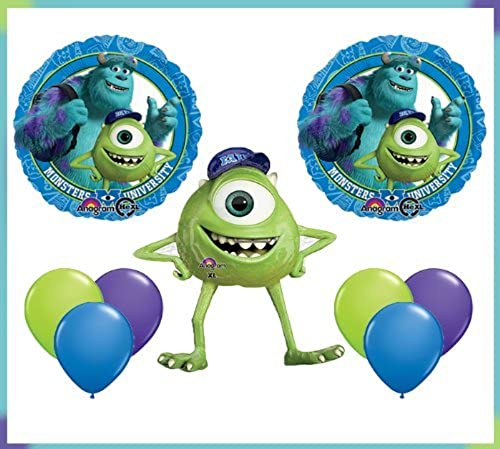 Monsters University Mike Jumbo Mylar Balloon Set Birthday Party Decor by Qualatex by Qualatex