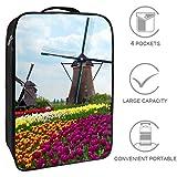 Bennigiry - Molino de viento holandés con tulipanes bolsa de zapatos de viaje, organizador de almacenamiento portátil, bolsa de golf para mujer y hombre
