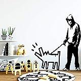 wZUN Pegatinas de Pared para niños y Perros, Accesorios de decoración del hogar, Pegatinas de Vinilo, decoración del hogar Art Deco 28X31cm