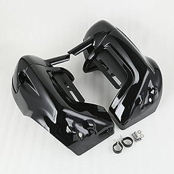 XMT-MOTO Black Lower Vented Leg Fairings Cap Glove Box fits for Harley-Davidson Touring Models 1983-2013