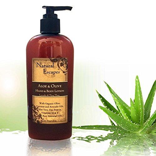 Organic Lemongrass Lotion w/Aloe Vera, Olive Oil, Coconut Oil & Avocado Oil | Organic Body Cream & Hand Lotion for Dry Skin, Itchy Skin, Eczema, Psoriasis & More! | Moisturizer for Soft Skin | 8oz