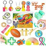 GTPHOM 25 Piezas Fidget Toy Pack, Juguetes Sensoriales Fidget Barato con Stress Ball y Infinity Cube para Antiestres, Fidget Toys Set Regalos para Niños, Adultos, Autismo