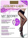 golden lady my secret 20 3p collant, 20 den, marrone (daino 334b), x-large (taglia produttore:5 – xl) (pacco da 3) donna
