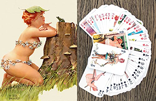 Hilda Playing Cards (Poker Deck 54 Cards All Different) Hilda Chubby Redhead Sexy Girl in Swimsuit Vintage Plus Size Pinup