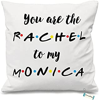 FavorPlus You're The Rachel to My Monica Custom Square Sofa Cushion Pillow case Cover Pillowslip 20x20 inch Two Sides Printed