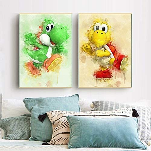 2 Some reservation Piece Yoshi Super Smash Bros Wall HD Beauty products Poster Cartoon Game Pictu