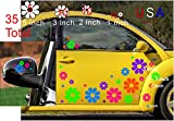 Deansigns4u 35 Car Flowers Set Bright Tropical Colors Decal Sticker Golf Cart Boat USA