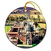 イタリアパヴィアクリスマスオーナメントセラミックシート旅行お土産ギフト