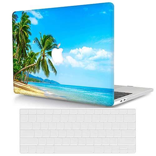 Bandless ACJYX Compatible con 2017 2016 2015 MacBook 12 Pulgadas Funda Modelo A1534, Plástico Rígida Carcasa Case Protectora y Cubierta de Teclado para MacBook 12 Retina - Playa Verano