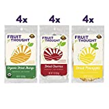 Fruit For Thought Healthy Non-GMO Dried Fruit Snacks Variety Pack, 1 Ounce (12 Pack)