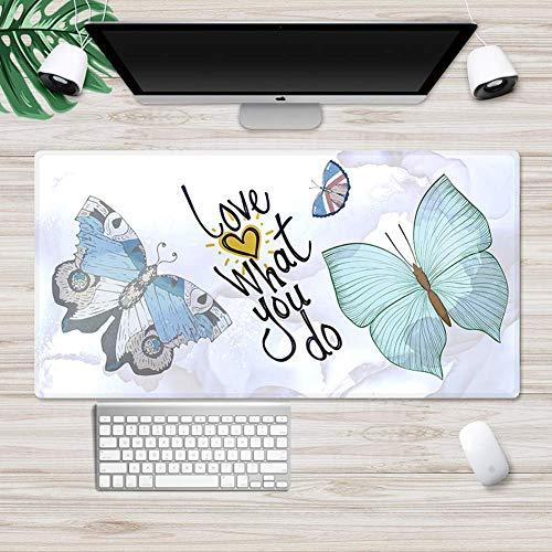 SLM-max Oversized placemat voor op de muis, antislip laptop-onderlegger met minimalistisch patroon, toetsenbordonderlegger met slot voor het bureau
