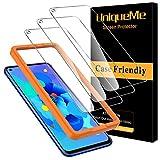 [3 Pack] UniqueMe Cristal Templado para Huawei Nova 5T, Protector de Pantalla [9H Dureza ] [Sin Burbujas] HD Film Vidrio Templado para Huawei Nova 5T con Garantía de Reemplazo de por Vida