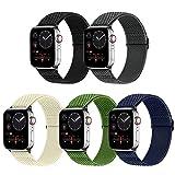 Vodtian Correa elástica ajustable para reloj compatible con Apple Watch de 40 mm y 38 mm para hombre y mujer, de nailon trenzado, repuesto deportivo para iWatch Series 6/5/4/3/2/1, SE