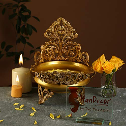 Two Moustaches Brass Urli Traditional Bowl