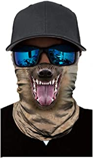 Best SAINDERMIRA 3D Animal Printed Balaclava Headwear Multi Functional Face Mask For Outdoor Cycling Riding Motorcycle Review