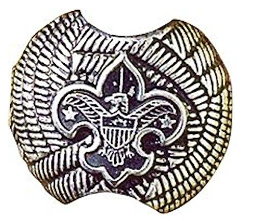 Boy Scout Pressed Metal Neckerchief Scarf Tie Slide w/ Loop on Backside