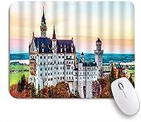 KAPANOU マウスパッド、ドイツの有名なツーリストリゾートのインスピレーションおとぎ話の城のプリント おしゃれ 耐久性が良い 滑り止めゴム底 ゲーミングなど適用 マウス 用ノートブックコンピュータマウスマット