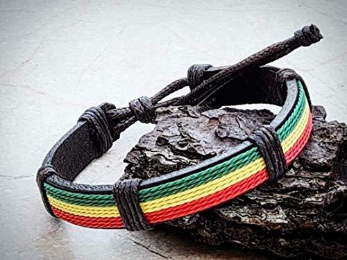 Pulsera Rasta Hippie - Bob Marley - Reggae - Rastafari - Jamaica - Marihuana - Cannabis