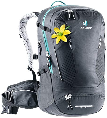 Deuter Trans Alpine 28 SL - Women's Lightweight, Versatile, and Durable Bike Backpack for Mountain Biking, Multi-day tours, and the Outdoors - Black