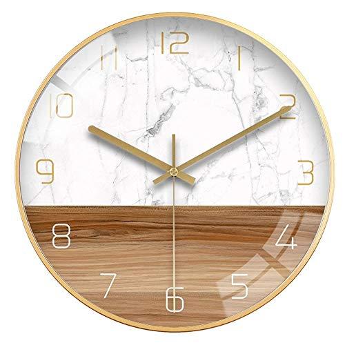 Wanduhr Moderne Minimalist Clock Startseite Clock Licht Wanduhr Wohnzimmer Schlafzimmer Kreative Mode Holzmaserung Nordic Mute Wanduhr