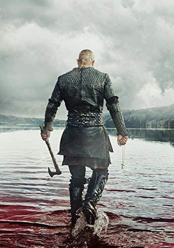 Desconocido Vikingos Serie de TV Póster Foto Series Art Travis Fimmel Ragnar Lodbrok 002 (A5-A4-A3) - A3
