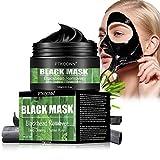 Maschere Viso,Maschera Nera,Black Mask,Rimuovere Punti Neri, Blackhead Remover Maschera Purificante peel-off Mask con carbone attivo per una profonda pulizia dei pori di crema per il viso