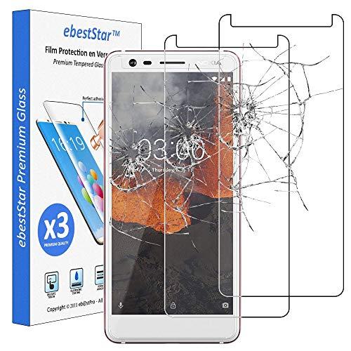 ebestStar - [Lote x3 Cristal Templado Compatible con Nokia Nokia 3.1 (2018) Protector de Pantalla, Película Vidrio Dureza 9H, Sin-Burbujas [Aparato: 146.25 x68.65 x8.7mm, 5.2'']