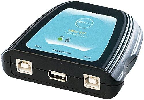 c-enter USB Switch: USB-Umschalter für 1 USB-Gerät an 2 PCs (USB weiche)