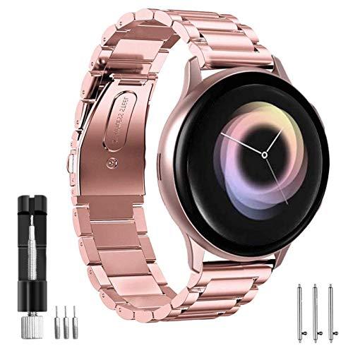 SPGUARD Armband Kompatibel mit Samsung Galaxy Watch Active 2 Armband Samsung Galaxy Watch 3 41mm Armband,Edelstahl Schnellverschluss Ersatzarmband für Galaxy Watch Active2 40mm 44mm/Galaxy Watch3 41mm