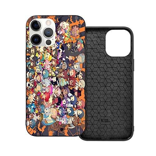 Leonsense Inazuma Eleven Custodia per Telefono Nera Compatibile con iPhone 12/12Pro Max 11 11 PRO Max XR XS SE 2020/7/8 6/6s Plus Samsung Huawei LG Caso
