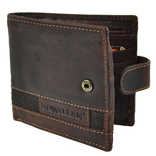 Rowallan of Scotland - Panama Collection Dreifach Gefaltetes Modisches Portemonnaie Aus Leder Für Herren In Geschenksverpackung