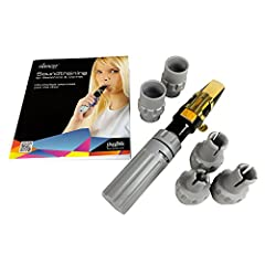 Ideal for practicing your embouchure and breathing Improve intonation, sound and articulation Drastically reduces volume without hindering technique Suitable for soprano, alto, tenor and baritone sax as well as clarinet Supplied with detailed book an...