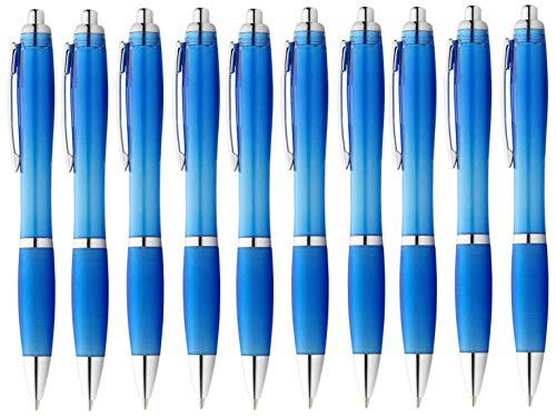 StillRich Industries 50 Stück hellblaue Regenbogen Kugelschreiber Set Premium Kulli, ballpoint pen, hochwertige, ergonomische und blauschreibende Kugelschreiber (hellblau)