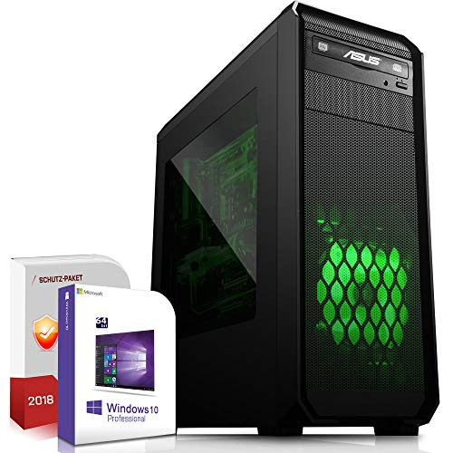 Multimedia Gaming PC AMD A10-9700 Pro 4x3.8GHz |ASUS Board|16GB DDR4|256GB SSD|Radeon R7 Series HDMI|DVD-RW|USB 3.0|SATA3|Sound|Windows 10 Pro|Made in Germany|3 Jahre Garantie