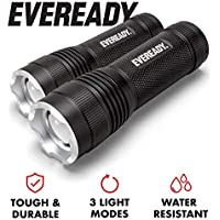 2-Pack Eveready IPX4 Water Resistant LED Tactical Flashlight
