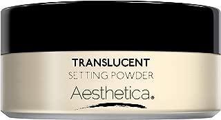 Aesthetica Translucent Setting Powder – Matte Finishing Makeup Loose Setting Powder – Flash Friendly Translucent Powder Foundation - Loose Face Powder Includes Velour Puff