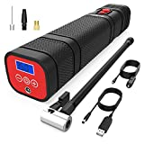 ThiEYE Portable Air Compressor Car Tire Inflator 120 PSI Cordless Car Pump Bike Pump with 2000mAh Battery LED Lighting and Digital Display for Car, Bicycles, Ball and Other Inflatables, Airkit