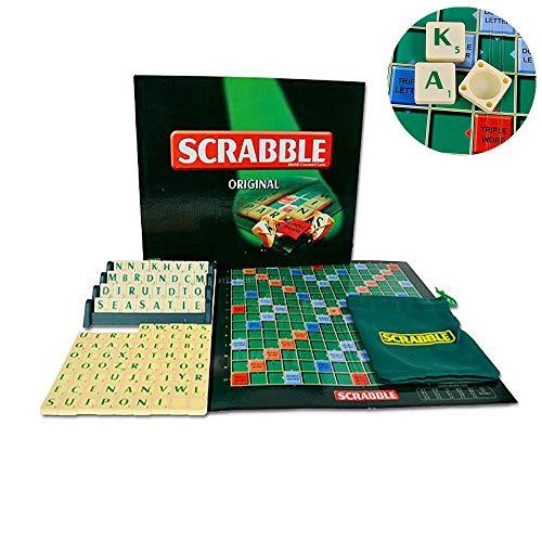 SUMMER Juego De Mesa para Niños, Juego De Mesa Scrabble Original Familia Niños Adultos Juguetes Educativos Juego De Rompecabezas
