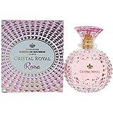 Cristal Royal Rose by Princesse Marina de Bourbon | Eau de Parfum Spray | Fragrance for Women | Floral and Fruity Scent with Notes of Rose, Lemon, and Pear | 100 mL / 3.4 fl oz