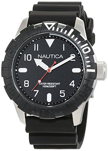 Nautica Herrenuhr Analog Quarz mit Silikonarmband – NAD09519G