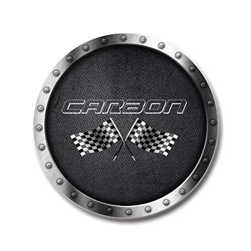 Raptor Hunting Solutions Cache-moyeux Autocollants pour Jantes 4pcs x 60mm Carbon de Voiture Tuning Vinyle
