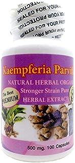 The Best Premium Kaempferia Parviflora Natural Herbal Powder 500mg 100 Vegetarian Capsules