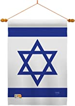 Breeze Decor HS108080-P3-03 Israel Flags of The World Nationality Impressions Decorative Vertical 28